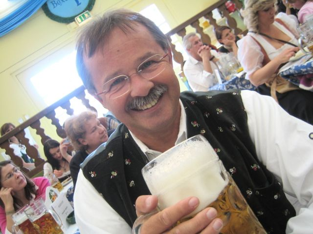 Ulli Ziegner auf der Wiesn, Foto: Ulrich Ziegner