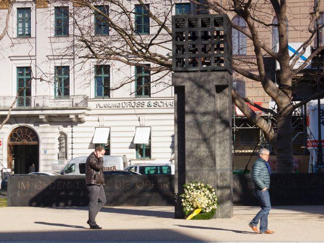 Platz der Opfer des Nationalsozialismus am Nord-Ende des Maximiliansplatzes, Foto: Katy Spichal