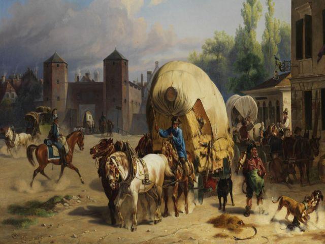 Das Sendlinger Tor 1840, gemalt von Christian Frederick Carl Holm.