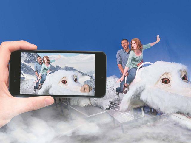Ritt auf Fuchur mit der Augmented-Reality-App, Foto: Bavaria Filmstadt