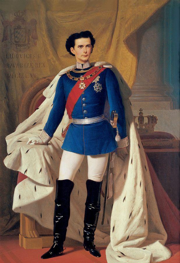 Gemälde von König Ludwig II. in bayerischer Generalsuniform mit Krönungsmantel, Foto: Bayerische Schlösserverwaltung www.schloesser.bayern.de