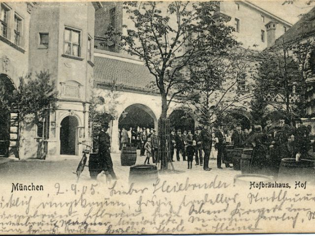 Postkarte Münchner Hofbräuhaus, Foto: BBMC Tobias Ranzinger