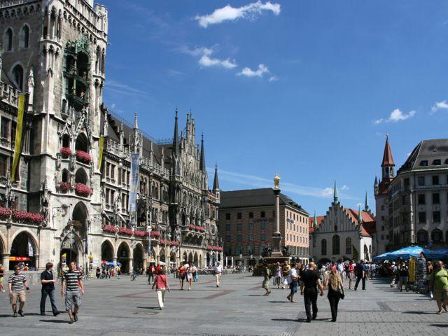 Der Marienplatz in der Innenstadt, Foto: Shutterstock