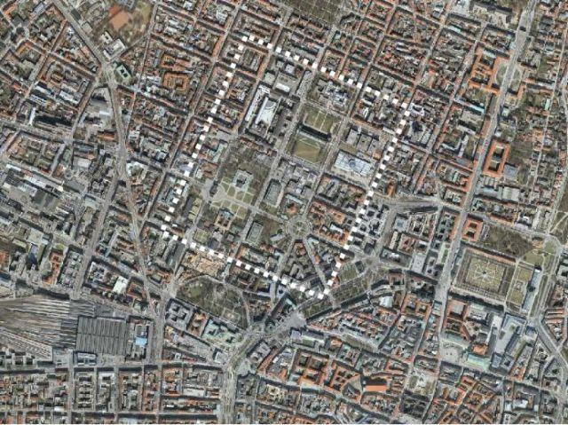 Kunstareal Luftbild, Foto: Baureferat der Landeshauptstadt München