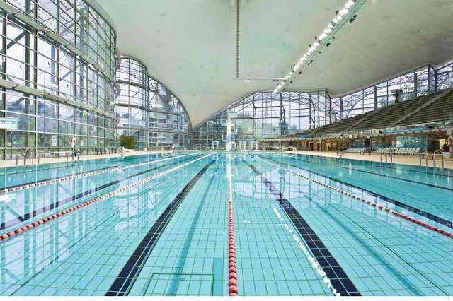 Olympiaschwimmhalle, Foto: Robert Goetzfried