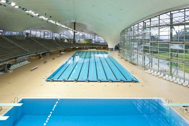 Two pools of the olympic swimming pools built 1972 for the Olympic Games., Foto: SWM