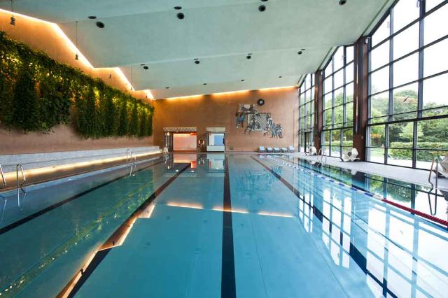 Südbad  Indoor swimming plus outdoor wellness pool: Südbad  Foto: Robert Goetzfried 300er-Focus  Indoor swimming and outdoor wellness are the key characteristics of the Südbad., Foto: SWM