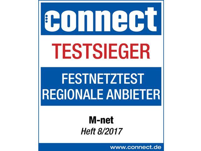 """M-net ist Testsieger der Fachzeitschrift """"connect"""", Foto: M-net"""