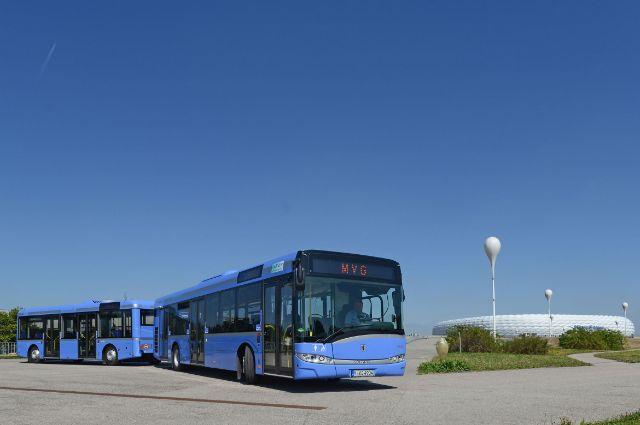 MVG-Buszug vor der Allianz Arena, Foto: SWM/MVG