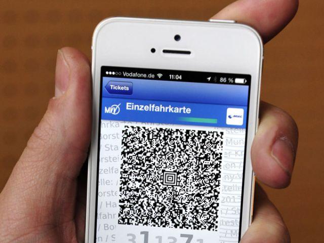 HandyTicket auf dem Display eines Telefons, Foto: SWM/MVG