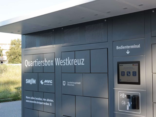 Die Quartiersbox in Neuaubing-Westkreuz, Foto: SWM