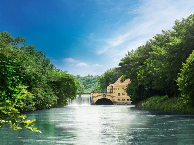 Wasserkraftwerk, Foto: SWM