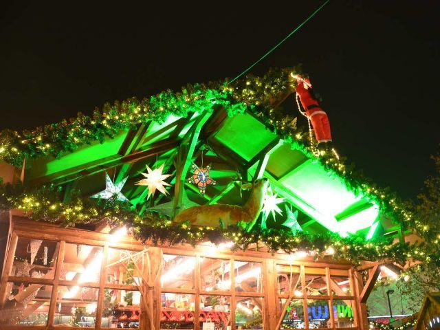 Hütte am Weihnachtsdorf Pasing Arcaden