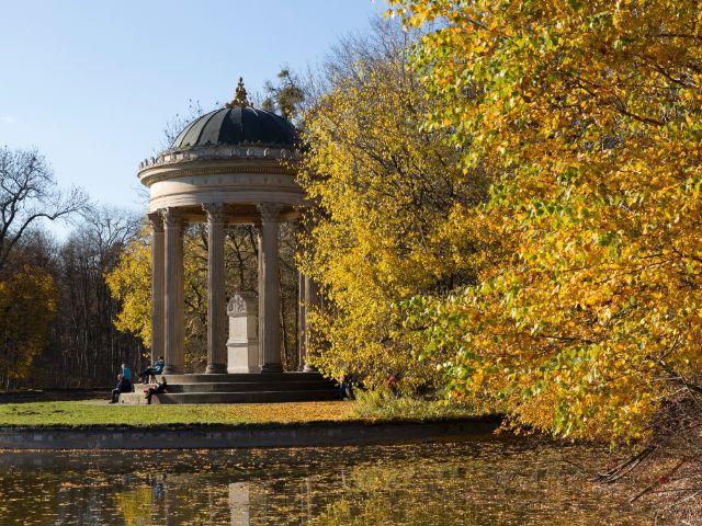 Herbst im Nymphenburger Schlosspark, Foto: Katy Spichal