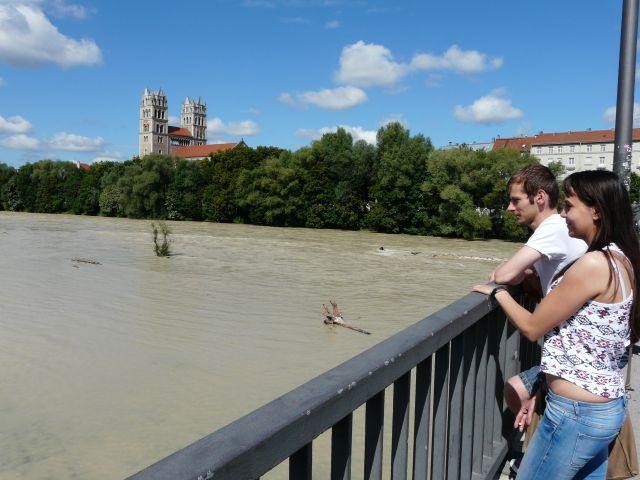 Isar Hochwasser August 2014, Foto: Melina Pfeffer