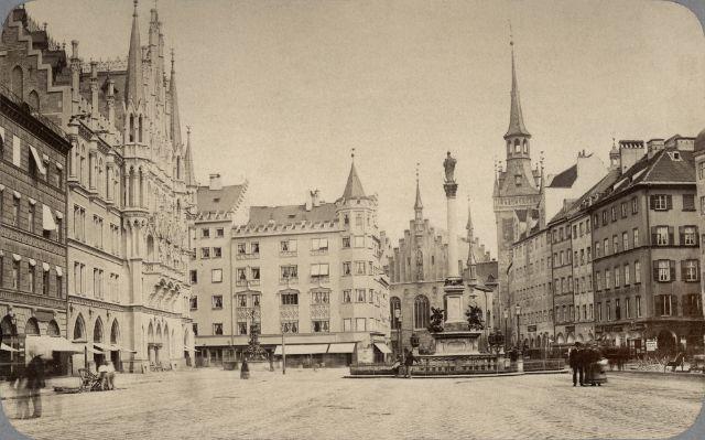 1880 Marienplatz, Foto: Stadtarchiv München/Wein-0002
