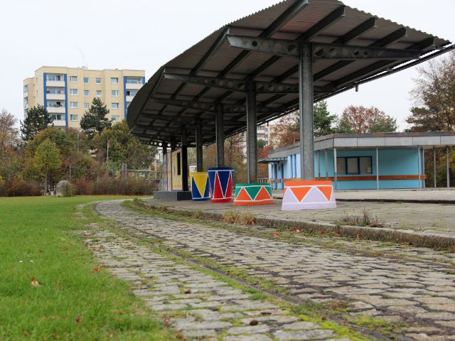 Ehemalige Trambahnhaltestelle am Goldschmiedplatz, Foto: Christian Brunner