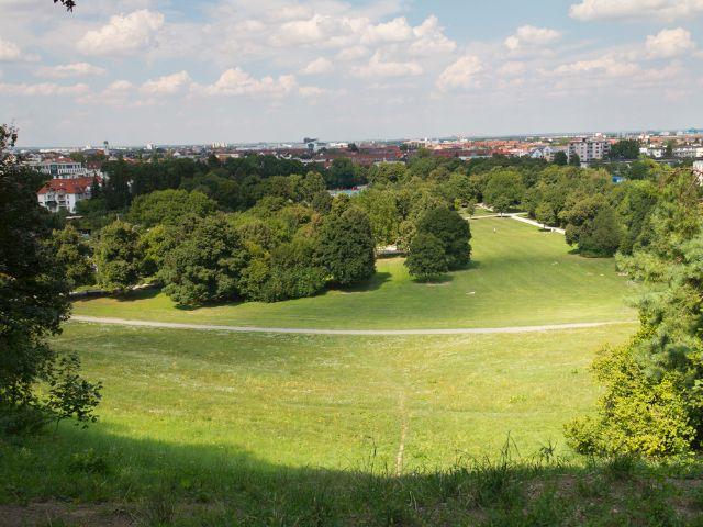 Aussicht vom Luitpoldhügel im Luitpoldpark, Foto: Katy Spichal
