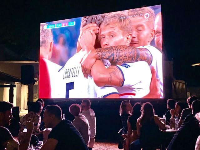 1:0 für Italien bei der UEFA EURO 2020 am 11. Juni 2021, Foto: Anette Göttlicher