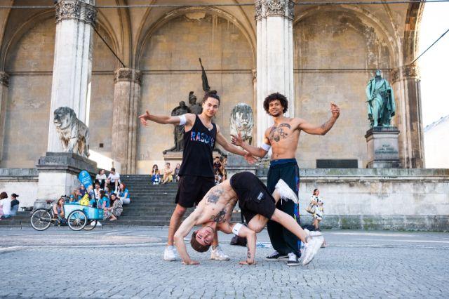 Freestyler auf dem Odeonsplatz, Foto: Anette Göttlicher