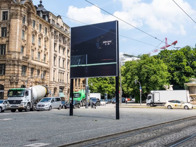 Billboard am Lenbachplatz, Foto: Anette Göttlicher