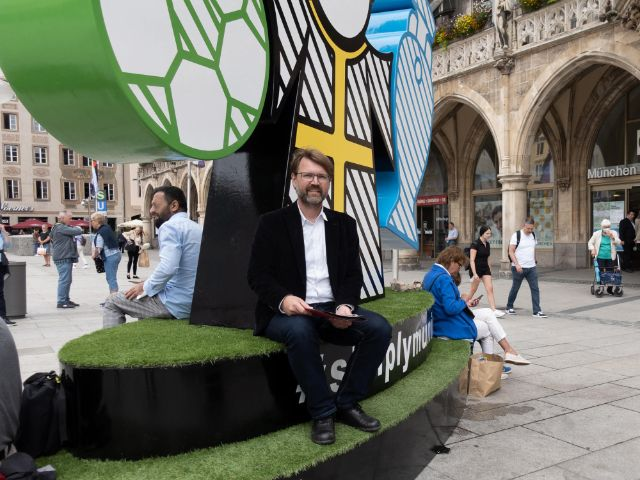 Florian Kraus am Marienplatz am Spectacular, Foto: Anette Göttlicher