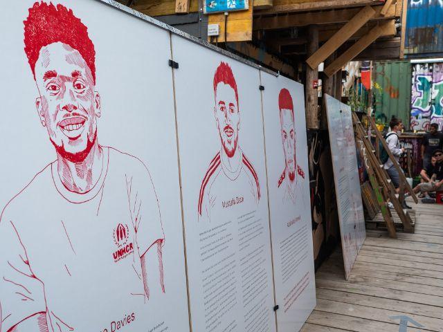 Flucht, Migration & Fußball – Ausstellung im Bahnwärter Thiel, Foto: Anette Göttlicher