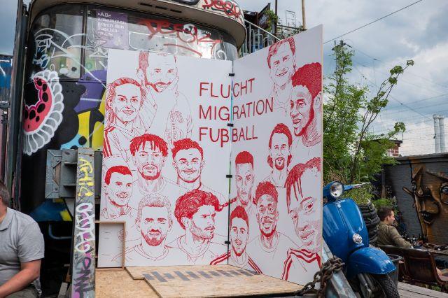 Flucht, Migration & Fußball im Bahnwärter Thiel, Foto: Anette Göttlicher