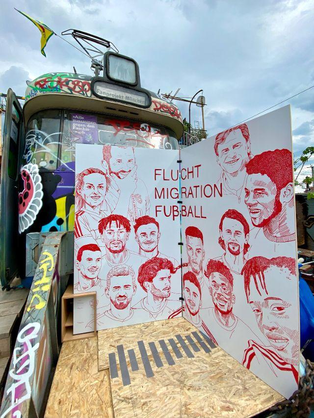"""""""Flucht, Migration & Fußball"""", Foto: Anette Göttlicher"""