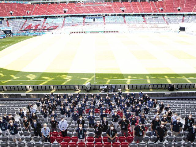 Das Münchner Organisationskommittee für die EURO 2020 in der Fußball Arena, Foto: DFB / Thomas Boecker
