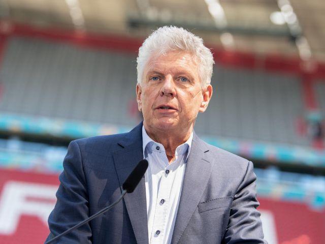 Dieter Reiter bei der PK in der Fußball Arena München, Foto: Matthias Balk