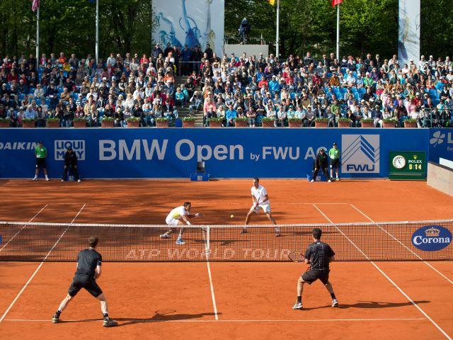 Spielszene beim Tennisturnier BMW Open in München, Foto: Hasenkopf/MMP