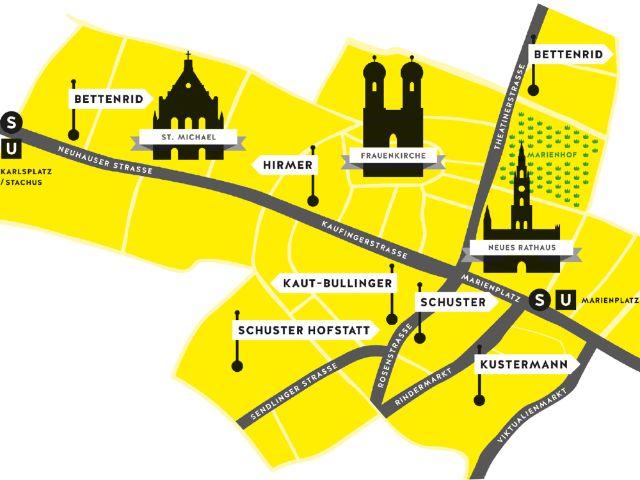 Karte der Ersten Häuser, Foto: Münchens Erste Häuser