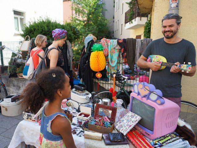 Hofflohmarkt im Glockenbachviertel, Foto: muenchen.de/Vauelle