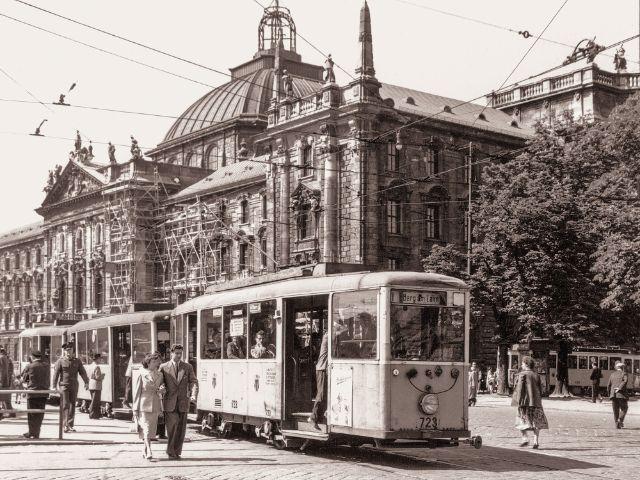 Historische Trambahn, Foto: Bildarchiv der Freunde des Münchner Trambahnmuseums e.V.