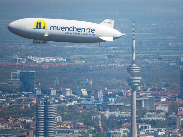 Zeppelin über München, Foto: Achim Mende
