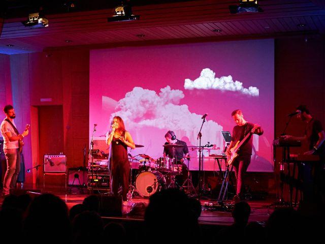 Band auf dem Digitalanalog Festival, Foto: Gunnar Menzel