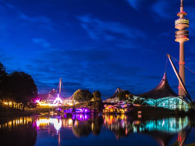 Sommerfestival im Olympiapark - abends, Foto: muenchen.de/Michael Hofmann