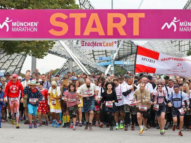 Start beim Trachtenlauf, Foto: München Marathon/Norbert Wilhelmi