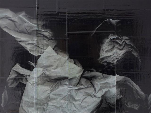 Andrea Esswein: paper grew 8, 2016, Kopigrafie, Kunstharz, 30 x 40 cm, Foto: Andrea Esswein / Courtesy Dirk Halverscheid Galerie