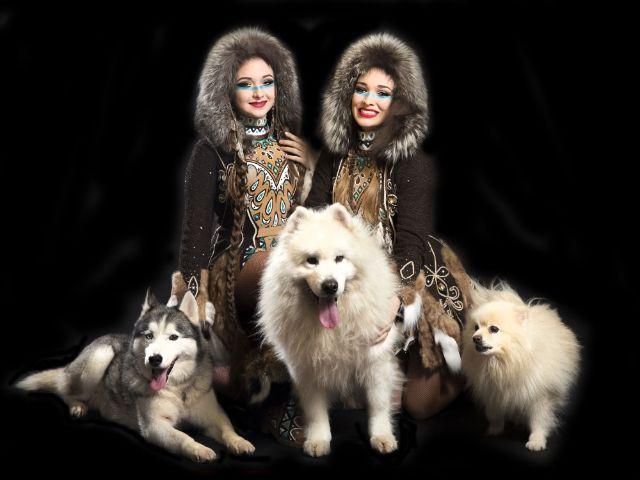 Familie Saabel mit Huskies, Foto: Circus Krone