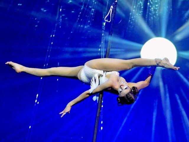 Zsofia Komenda; Aerial Pole, Foto: Circus-Krone.de