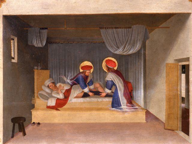 Fra Angelico, Traum des Diakons Justinian, um 1438/40, Foto: Florenz, Gabinetto Fotografico delle Gallerie degli Uffizi
