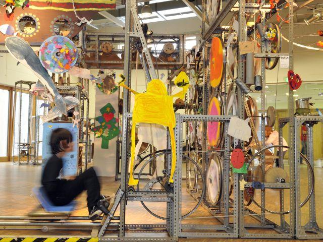Die Mitmachmaschine im Kindermuseum, Foto: Akki e.V. Düsseldorf