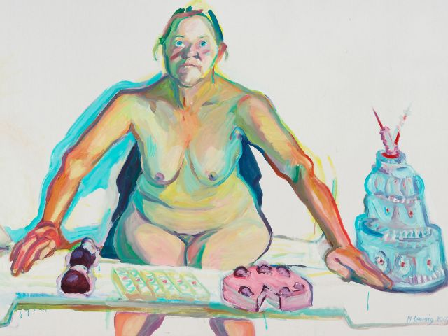 Mehlspeisenmadonna - Öl auf Leinwand, Foto: Maria Lassnig Stiftung