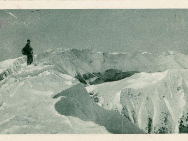 """Ausstellung """"Ins Blaue"""" - Postkarte von Kafka, Foto: © DLA (das Original ist in der Dauerausstellung im Literaturmuseum der Moderne ausgestellt)"""