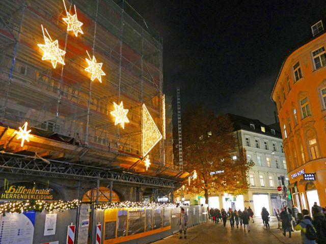 """Die Lichtinstallation """"Sternen_Weg"""", Foto: muenchen.de / Leonie Liebich 2018"""