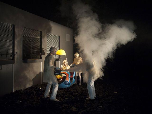 """Theaterproduktion: """"Fahrenheit 451"""", Foto: Björn Klein"""