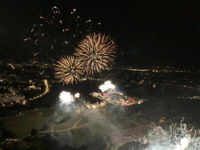 Feuerwerk beim Münchner Sommernachtstraum 2019, Foto: muenchen.de/Philipp Hartmann, 2019