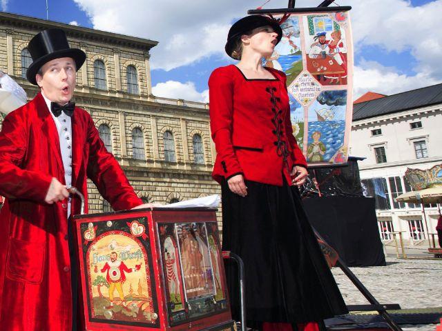 Straßenkünstler beim Münchner Stadtgründungsfest, Foto: Wolfgang Weigl